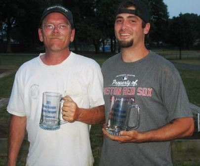 2011 Singles Finalist Bill Morse and 2011 Singles Champion Bob Blais