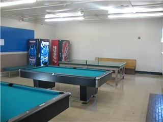 Pool tables in the Recreation Room