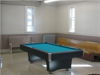 Pool table in the Recreation room