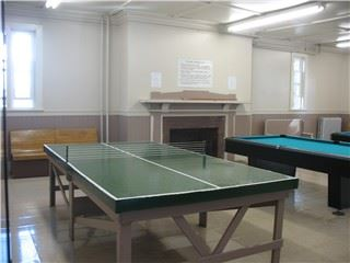 Ping pong table in the Recreation room